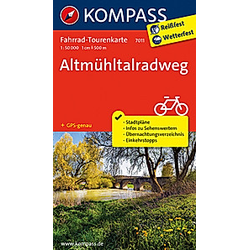 Fahrrad-Tourenkarte Altmühltalradweg - Buch