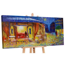 YS-Art Gemälde Abendcafe 162