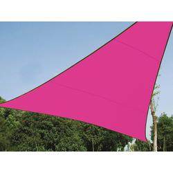 PEREL Sonnensegel, dreieckig Dreieck-Segel für Terrasse Balkon & Garten Sonnenschutz-Segel - Terrassenüberdachung rosa 500 cm x 500 cm x 500 cm