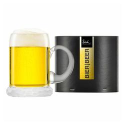 Eisch Bierkrug Seidel Hamilton 500 ml, Kristallglas beige