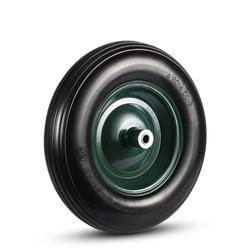MAXCRAFT Schubkarrenrad mit Achse aus Vollgummi - Schwarz/Grün