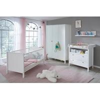 trendteam Babyzimmer Ole mit 3-türigem Schrank 4-tlg. weiß