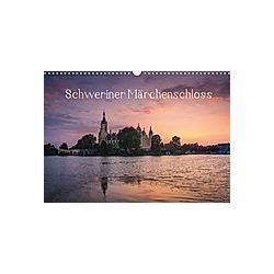 Schweriner Märchenschloss (Wandkalender 2021 DIN A3 quer)