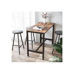 VASAGLE Bartisch LBT91X, Holztisch, Esstisch, Küchentisch, Tisch für Cocktails, Küche, vintage
