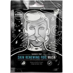 BARBER PRO Gesichtsmaske RENEWING FOIL MASK™, Thermo-Folienmaske mit Kollagen, Hyaluron und Q10