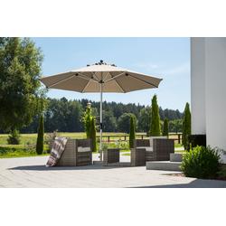 Schneider Schirme Sonnenschirm Monaco, ohne Schirmständer grau Sonnenschirme -segel Gartenmöbel Gartendeko