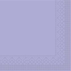 Mank Tissue Basics Servietten, 33 x 33  cm, 1/4 Falz, 3-lagig, 1 Karton = 6 x 100 Stück = 600 Servietten, lila