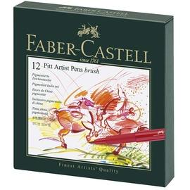Faber-Castell Tuschestift Pitt Artist Pen Brush 12 St.