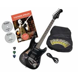 Rocktile Pro ST60-SK E-Gitarre Skull mit Zubehör