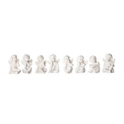 BigDean Engelfigur Engelsfiguren klein 3x2 cm − Tischdekoration − 8 Posen − Kleine Engel als Gastgeschenk (8 Stück)