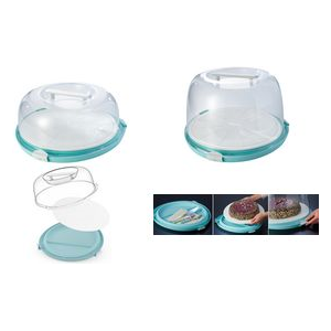 "keeeper Tortenhaube ""emilio"", rund, flach aquamarine / transparent, Material: PP/TPE, - 1 Stück (1073462400000)"