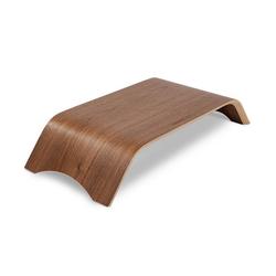 Terratec Holzdrei Monitor-Halterung, (bis 27 Zoll, Monitorständer aus Echtholz, ergonomische Bilschirmerhöhung für iMac oder PC-Monitore, bis 27
