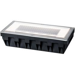 Paulmann LED Einbauleuchte Box, Bodeneinbauleuchten-Set, Solar, Edelstahl