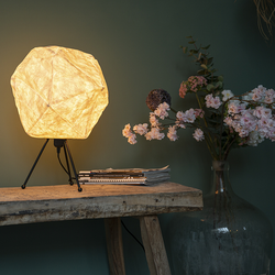 Skandinavische Papiertischlampe weiß - Pepa Lua