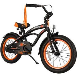 bikestar Premium Sicherheits Kinderfahrrad 16 Cruiser Schwarz
