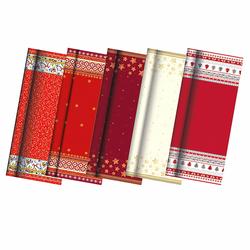 Tischdecke aus Papier lackiert 7 m x 1,2 m div. Weihnachtsmotive sortiert