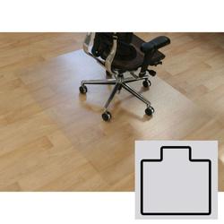 Bürostuhlunterlage für hartböden - polycarbonat, t-form, 1500 x 1200