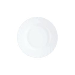 Arcoroc Suppenteller Trianon Uni, Teller tief 22.5cm Opalglas weiß 6 Stück Ø 22.5 cm x 3.5 cm