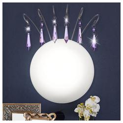 Esto Wandleuchte, Wandleuchte Wandlampe Design Kristall Violett Esto Princess 68047
