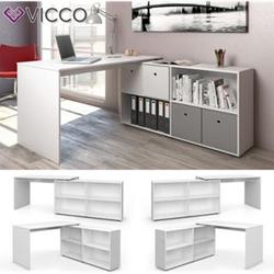 Vicco Eckschreibtisch FlexPlus Computer Bürotisch PC Schreibtisch  Weiß