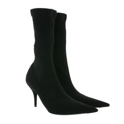 Balenciaga BALENCIAGA Knife Absatz-Stiefeletten elegante Damen Stiefel Made in Italy Stoff-Schuhe Schwarz Stiefelette