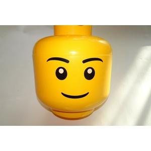 LEGO Aufbewahrung Boy Großer Kopf Jungenkopf Aufbewahrungsbox 24 cm Höhe 27 cm