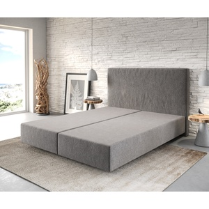 DELIFE Boxspringgestell Dream-Well 160x200 Mikrofaser Steingrau, Boxspringbetten