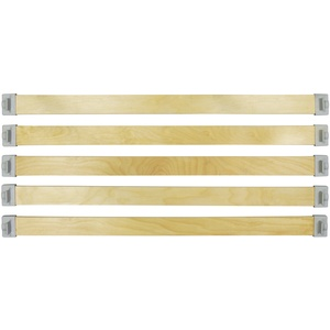 wiedergutschlafen Befestigungs-Komplettset 50mm x 8mm (5 Federholzleisten + 10 Befestigungskappen) zur Nachrüstung Ihres Lattenrostes (780)