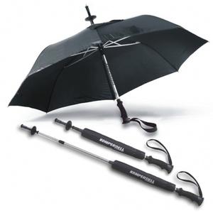 Unbekannt EuroSchirm Unisex – Erwachsene Komperdell Stock/Schirm, schwarz, 72 cm