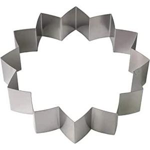 Lares - Backform/Backrahmen/Tortenring - aus Federbandstahl - Motiv: Seerose 12 Zacken - Ø ca. 27cm, H: ca. 7cm - Made in Germany