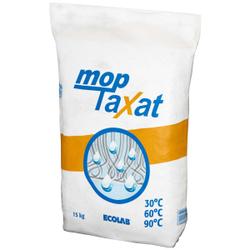ECOLAB mopTaxat Vollwaschmittel, Spezialwaschmittel für die Mopp-Wäsche, 15 kg - Papiersäcke