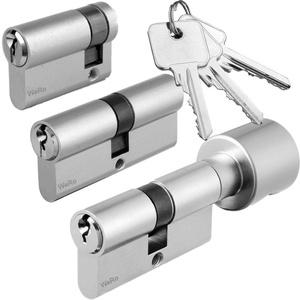 Schließzylinder für gleichschließendes SET/Längen frei kombinierbar Doppelzylinder A:45mm B:50mm