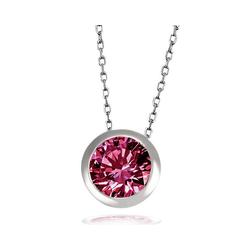 goldmaid Collier, Silber 925 mit rubinfarbenem Zirkonia