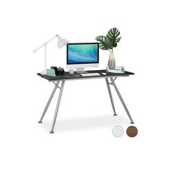 relaxdays Schreibtisch Moderner Schreibtisch schwarz