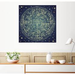 Posterlounge Wandbild, Sternenkarte 50 cm x 50 cm