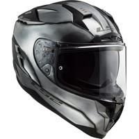 LS2 FF327 Challenger Jeans Helm, silber, Größe XL