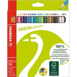 STABILO Dekorierstift GREENcolors Buntstifte, 24 Farben