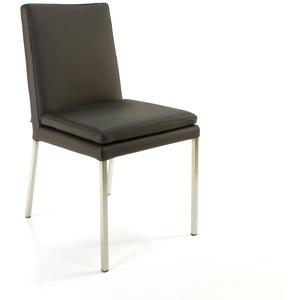 Lederstuhl Stella Rindsleder Dark Braun | SIX Büroststuhl Konferenzstuhl Stühle
