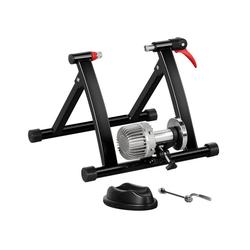Yaheetech Rollentrainer, Fahrrad Rollentrainer Stahl Rollentrainer Fluid Bike Trainer Klappbar Radtrainer für 26-28 Zoll, bis zu 100 Kg belastbar