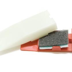 Füllstoffhobel inkl. einem Schleif-Poliertuch - zum Abhobeln von Füllstoffen, Mattieren oder Polieren von Wachsüberständen