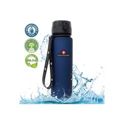 Höhenhorn Trinkflasche Höhenhorn Urach Trinkflasche 1L Wasserflasche Auslaufsicher Sport BPA-Frei blau