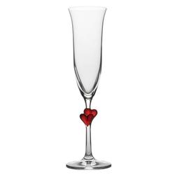 Stölzle Sektglas L'Amour (2-tlg), Kristallglas weiß