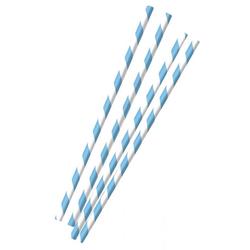 Amscan Einweggeschirr-Set Blau-weiße Oktoberfest Strohhalme aus Papier 12 St, Papier