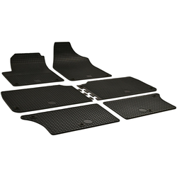 WALSER Passform-Fußmatten (6 Stück), Seat, VW Alhambra, Sharan Großr.lim., für VW Sharan und Seat Alhambra