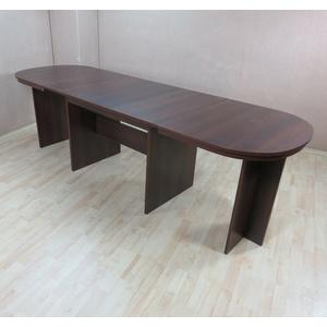 Kulissentisch oval nußbaum dunkel Auszugtisch Esstisch Esszimmertisch ausziehbar