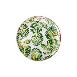 Rice Tropic Leaf Print Teller Ø16 cm Keramik