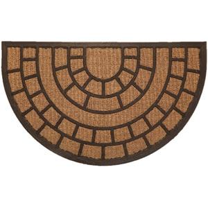 """Fußmatte """"Kokos"""" Struktur halbrund Design1"""