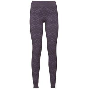 Odlo Damen SUW Bottom Pant Natural + Kinship WARM Unterhose, Vintage Violet Melange, XL