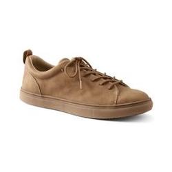 Leder-Sneaker, Herren, Größe: 41 Weit, Beige, by Lands' End, Vintage Beige Leder - 41 - Vintage Beige Leder
