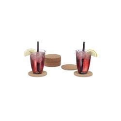 relaxdays Glasuntersetzer Glasuntersetzer Kork 12er Set
